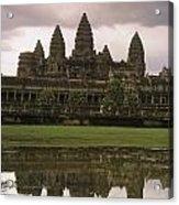 Angkor Wat Temple Reflected Acrylic Print