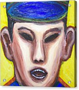 Angry Chinese Police Officer Acrylic Print by Kazuya Akimoto