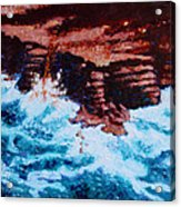Angry Ocean and Land Acrylic Print