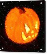Angry Pumpkin Acrylic Print