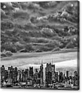 Angry Skies Over Nyc Acrylic Print
