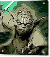Angry Yoda Acrylic Print