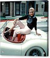 Anita Ekberg, On Her Jaguar, Late 1950s Acrylic Print by Everett