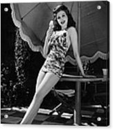 Ann Miller Eating Ice Cream, Ca. 1941 Acrylic Print