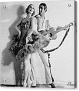 Anna Pavlova 1885-1931 Dancing Partner Acrylic Print