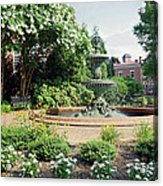 Annapolis Fountain Garden Acrylic Print