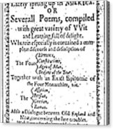 Anne Bradstreet Title-page Acrylic Print