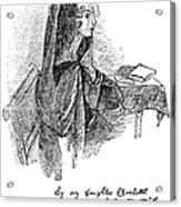 Anne Bront� (1820-1849) Acrylic Print by Granger