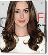 Anne Hathaway At Arrivals For Afi Fest Acrylic Print