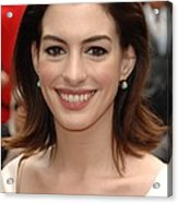 Anne Hathaway At The Press Conference Acrylic Print
