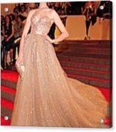 Anne Hathaway Wearing  A Valentino Gown Acrylic Print
