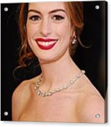 Anne Hathaway Wearing Tiffany Jewelry Acrylic Print by Everett