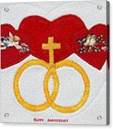 Anniversary Hearts Acrylic Print