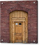 Anonymous Door Acrylic Print