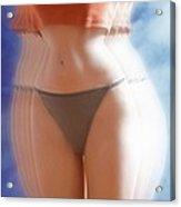 Anorexic Woman Acrylic Print