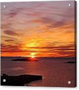 Antarctic Sunset 02 Acrylic Print by David Barringhaus