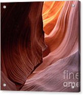 Antelope Canyon Written In Stone Acrylic Print