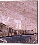 Antelope House Petroglyphs Acrylic Print