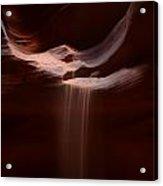 Antelope Slot Canyon Sand Acrylic Print