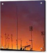 Antennas On Sunset Acrylic Print