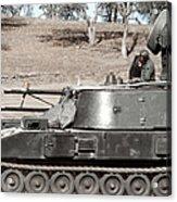 Anti-aircraft Guns Mounted On An M109 Acrylic Print
