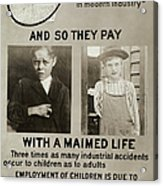 Anti-child Labor Poster Acrylic Print