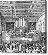 Anti-slavery Meeting, 1842 Acrylic Print
