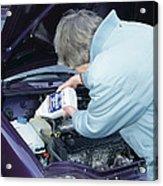 Antifreeze And Car Engine Acrylic Print