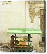 Antigua Fruit Vendor Acrylic Print