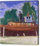 Antiquated Hudson River Tug Acrylic Print