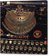 Antiquated Typewriter Acrylic Print