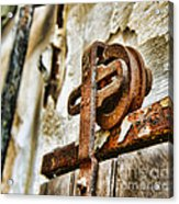 Antique - Door Rail - Rusty Acrylic Print