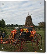Antique Buggy In Fall Colors Acrylic Print