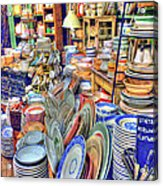 Antique Dishes Fishs Eddy New York Acrylic Print