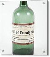 Antique Eucalyptus Oil Bottle Acrylic Print