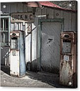 Antique Gas Pumps Acrylic Print