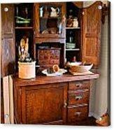 Antique Hoosier Cabinet Acrylic Print by Carmen Del Valle