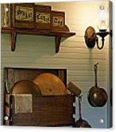 Antique Kitchen Wares Acrylic Print by Carmen Del Valle