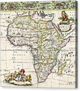 Antique Map Of Africa Acrylic Print