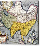 Antique Map Of Asia Acrylic Print
