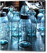 Antique Mason Jars Acrylic Print by Mark Sellers