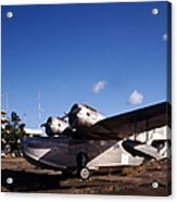 Antique Navy Seaplane Parked In Front Acrylic Print by Michael Wood