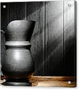 Antique Pewter Pitcher Acrylic Print
