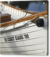 Antique Us Coast Guard Boat Acrylic Print
