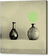 Antique Vases Still Life Altered I Acrylic Print