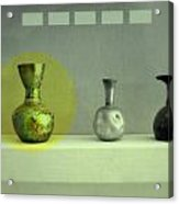 Antique Vases Still Life Altered II Acrylic Print