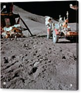 Apollo 15 Astronaut Works At The Lunar Acrylic Print