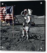 Apollo 17 Astronaut Salutes The United Acrylic Print