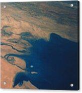 Apollo 7 Photograph Of Kuwait, Iraq & Iran Acrylic Print by Nasa