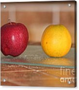 Apple And Orange Acrylic Print